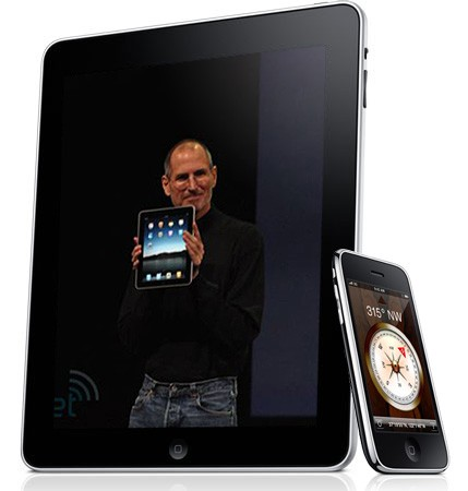 Yes, you can tether the iPad to an iPhone or Windows Mobile Phone