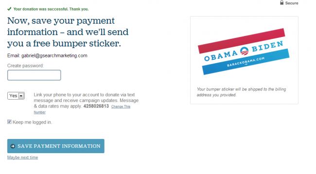 Obama email marketing